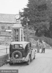 Trefriw, Rose Hill, Telephone Box 1956