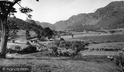 Trefriw, The Mountains And Crafnant Valley 1956