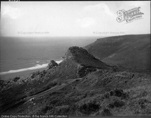 Photo of Tregardock, Cliff Path 1938
