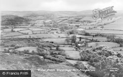 Tregaron, View From Vicarage Hill c.1955
