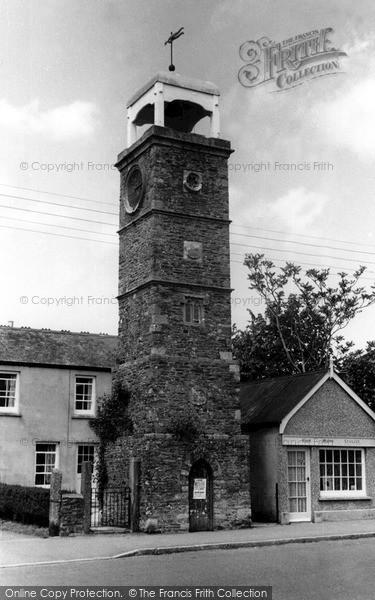 Photo of Tregony, Town Clock c1955