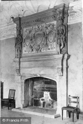 Trerice Manor, Drawing Room Fireplace c.1900