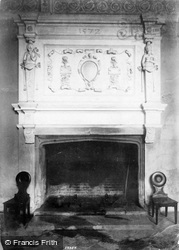 Trerice Manor, The Hall Fireplace 1907