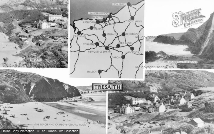 Photo of Tresaith, Composite c.1955