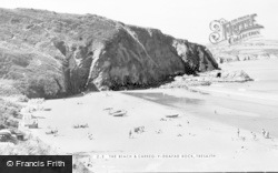 Tresaith, The Beach And Carreg-Y-Ddafad Rock c.1960