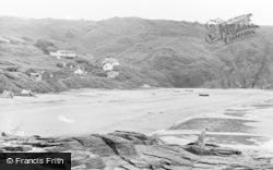 Tresaith, The Beach c.1950