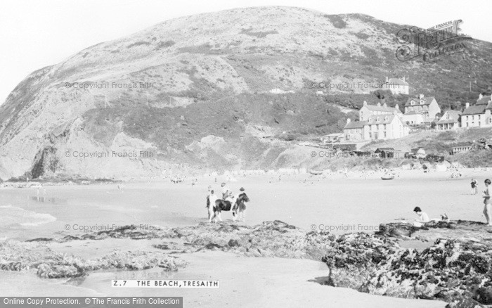 Photo of Tresaith, The Beach c.1960