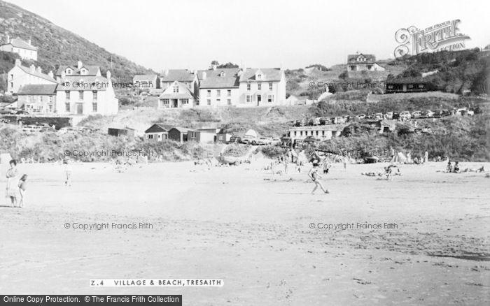 Photo of Tresaith, The Village And Beach c.1960