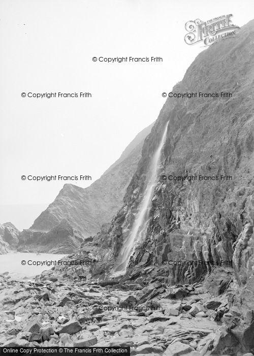 Photo of Tresaith, The Waterfall c.1950
