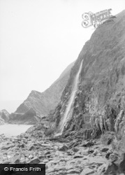 Tresaith, The Waterfall c.1950