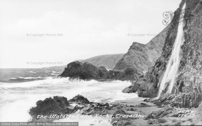 Photo of Tresaith, Waterfalls And Rocks c.1950