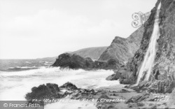 Tresaith, Waterfalls And Rocks c.1950