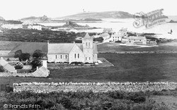 Tresco, St Nicholas Church, Dolphin Town c.1891
