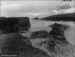 Trevone, Bay From Cosy Corner 1923