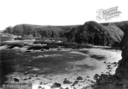 Trevone, Cliffs At Porthmissen c.1880