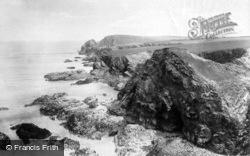 Trevone, Porthmissen Cliffs 1901