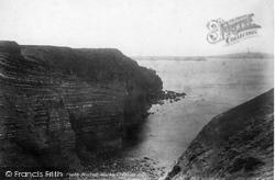 Trevone, Porthmissen Marble Cliffs 1901