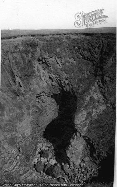 Photo of Trevone, The Bay, The Round Hole c.1960