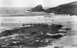 Trevone, The Beach And Bay 1925
