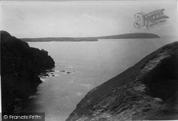 Trevone, The Headland 1894