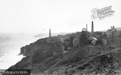 Trewellard, The Levant Mine c.1935
