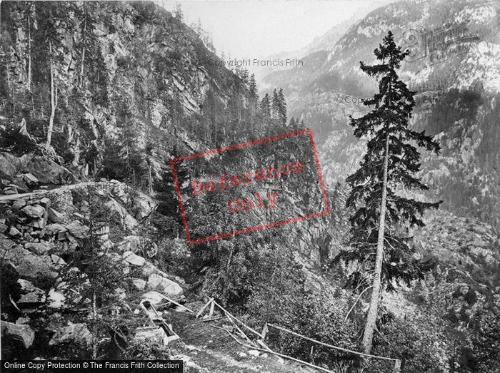 Photo of Trient, Roche Percie, Tete Noire c.1860