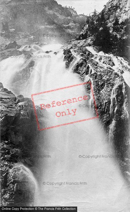 Photo of Trient, Tete Noire Valley, Cascade Barberine c.1874