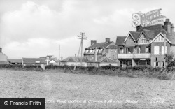 Trimingham, The Post Office And Crown And Anchor Hotel c.1955