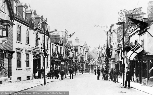 Photo of Tring, High Street 1897