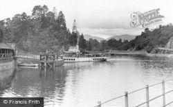 Trossachs, Loch Katrine, Steamer At The Pier c.1955