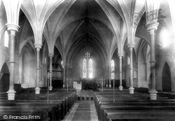 Trowbridge, Holy Trinity Church Interior 1900