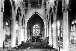 Trowbridge, St James's Church Interior 1900