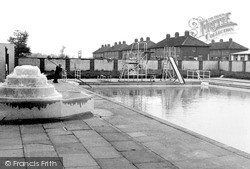 Trowbridge, The Bathing Pool c.1955
