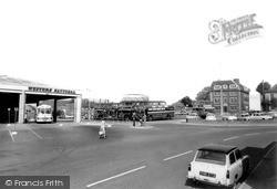 Trowbridge, The Bus Station c.1965