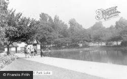 Tunstall, Park Lake c.1950
