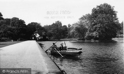 Tunstall, Park, The Lake c.1955