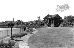 Tunstall, The Gardens And Bandstand c.1950