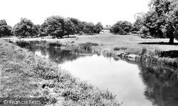 Turvey, Turvey House And The Great Ouse c.1955