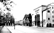 Twickenham, Richmond Road and the Gaumont Cinema c1955