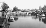 Twickenham, the Footbridge to Eel Pie Island c1960
