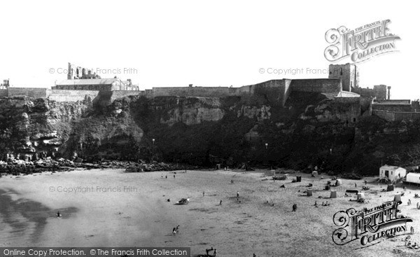 Photo of Tynemouth, Castle across the Bay c1955, ref. t142059