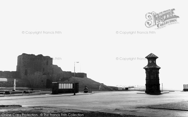 Photo of Tynemouth, Clock Tower and Castle Entrance c1955, ref. t142056