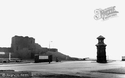 Tynemouth, Clock Tower And Castle Entrance c.1955