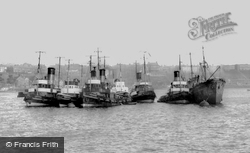 Ships On The River Tyne c.1960, Tynemouth