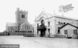 Tywyn, Assembly Rooms And Church 1895