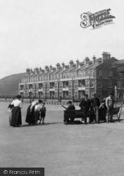 Tywyn, People On Marine Parade 1901