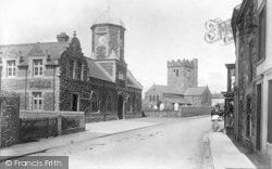 Tywyn, The Market Hall And Church 1901