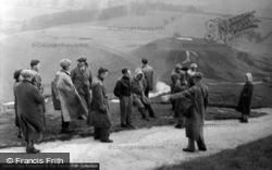 People At Uffingham Castle 1950, Uffington