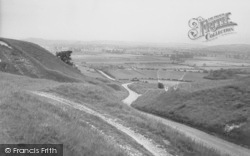 Uffington, View From The White Horse c.1955