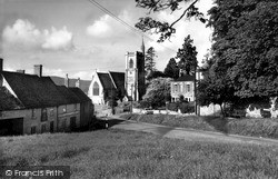Uley, The Green And Church Of St Giles c.1965